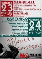 Monreale e Partinico: due appuntamenti verso la manifestazione nazionale del 30 marzo a Niscemi…