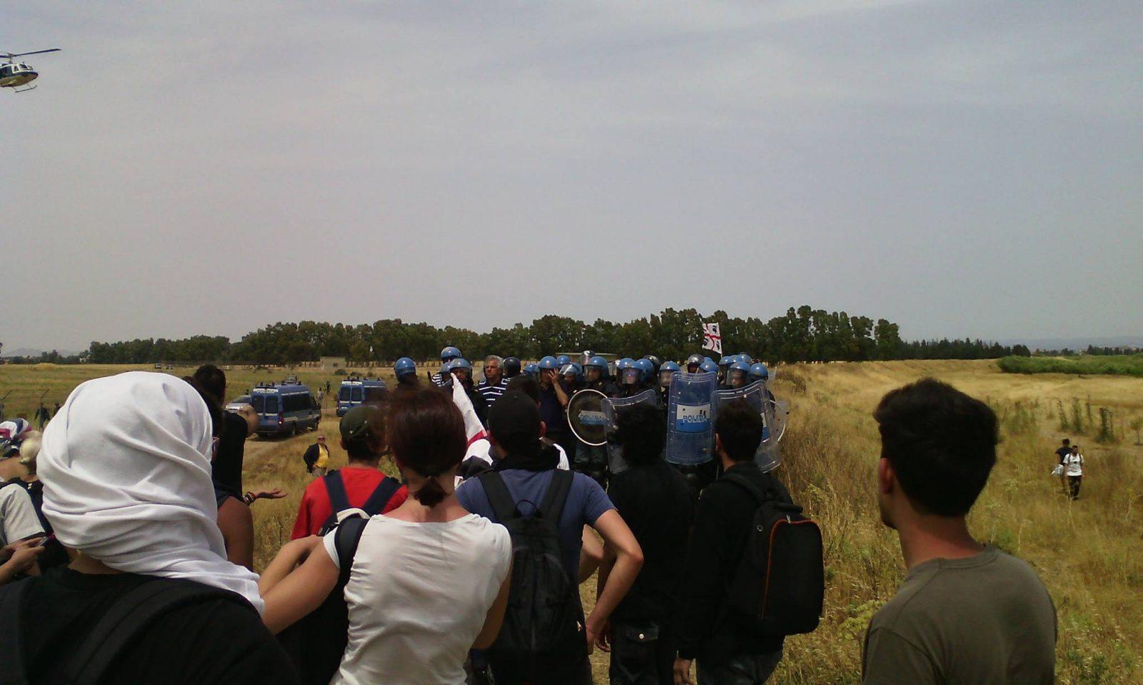 Agosto No MUOS. Campeggio al presidio e manifestazione