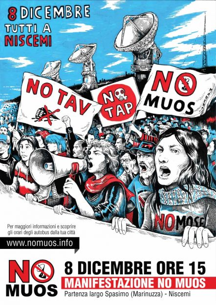 Manifestazione No Muos – 8 Dicembre