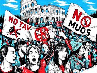 """""""Marcia per il clima contro le grandi opere"""" No Tav, No Muos, No Triv, No Tap"""