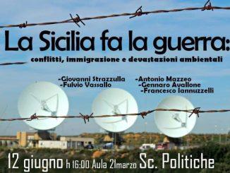 Locandina dell'evento La Sicilia Fa la Guerra per la smilitarizzazione della sicilia